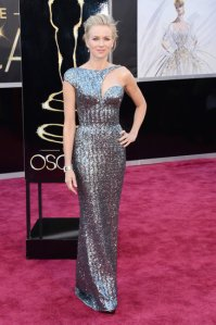 Naomi Watts in a custom Giorgio Armani gown