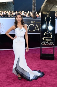 Zoe Saldana in Alexis Mabille Spring 2013 Couture