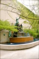 Garden by the Art Institute of Chicago