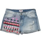 The Festival Collection - India High Waisted Sequined Denim Shorts ($89) Guess.com