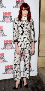 Florance Welch in a Floral Pant Suit