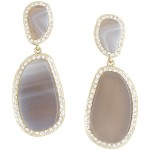 BCBGMAXAZRIA Natural Stone Earrings ($88) bcbg.com
