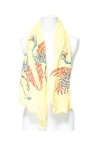 Printed Scarf with Embroidered Birds ($35.90) zara.com
