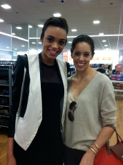 Model Devyn Abdullah and I at Ulta