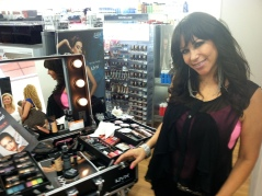 NYX Cosmetics representative Denese Barrera