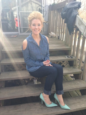 On Jenny: Top - Charlotte Russe, Jeans - Forever21, Heels - Guess