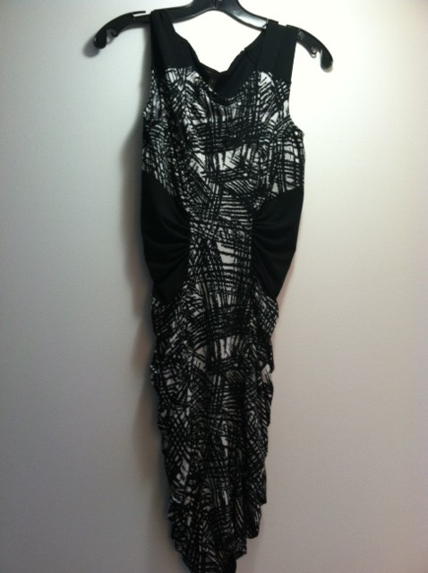 Black and White Print Dress, BCBG Max Azria